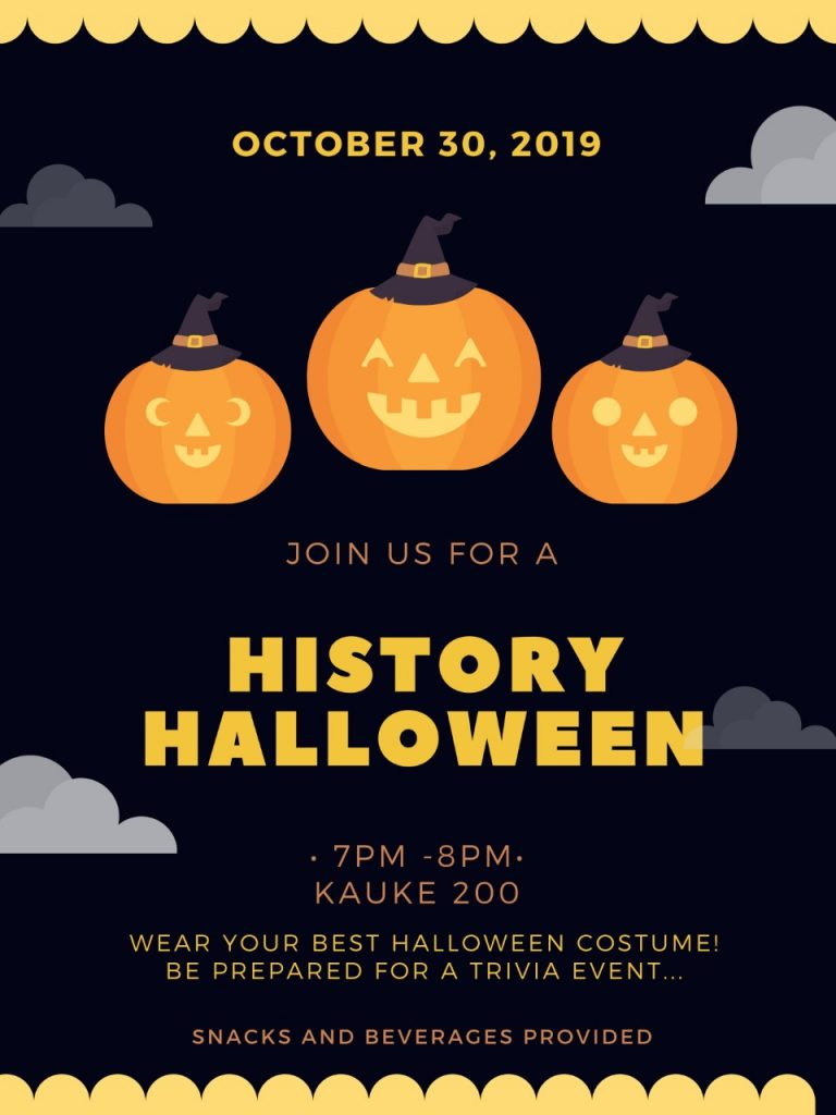 history halloween event oct 30 at 7pm